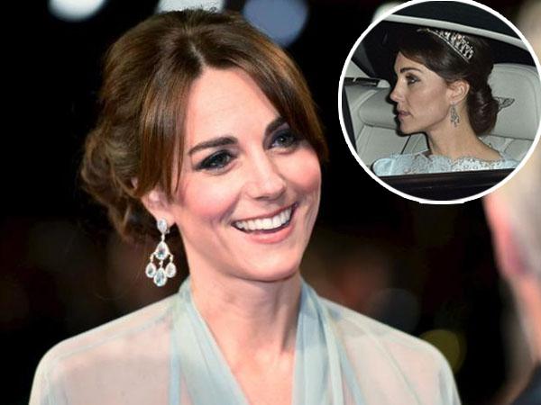 Cantiknya Kate Middleton Saat Pakai Mahkota Milik Putri Diana