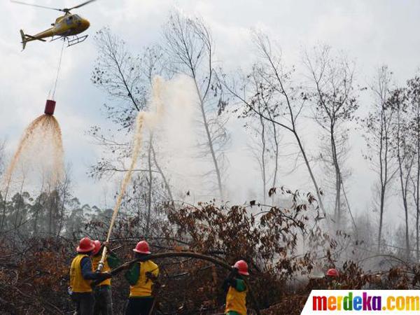 Indonesia Luluh, Akhirnya Terima Bantuan Singapura untuk Padamkan Api