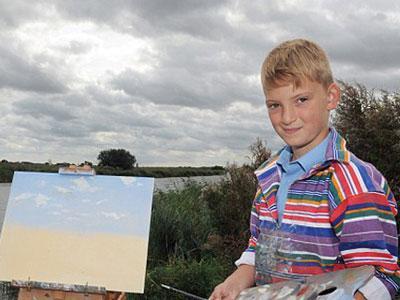 Wow, Bocah 10 Tahun Jadi Miliader Lewat Lukisan