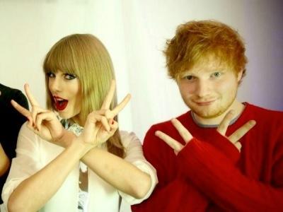Digosipkan Dekat Dengan Aktor Inggris, Taylor Swift Makin Lengket Dengan Ed Sheeran