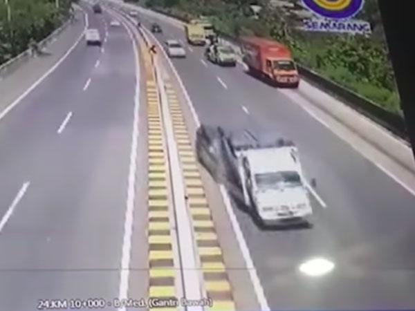 Rekaman CCTV Kecelakaan NH Dini Timbulkan Pertanyaan Mengapa Truk Ada Di Jalur Kanan?