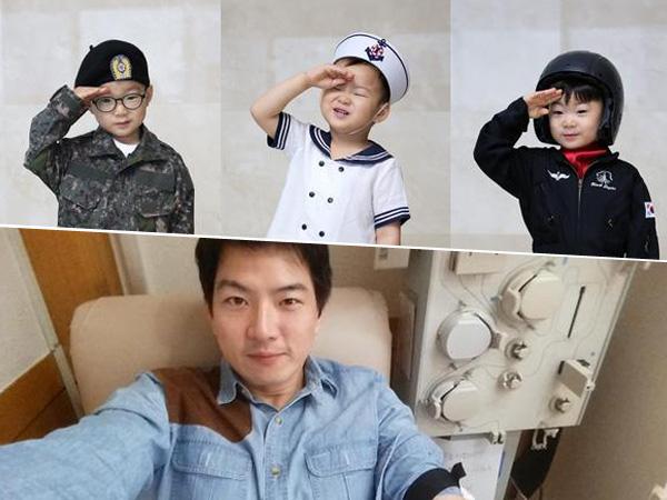 Barengan Dengan Hari Tentara, Sung Il Gook Rayakan Ultahnya Dengan Foto Song Triplet Ala Militer