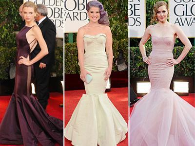 Parade Mermaid Dress di Golden Globe 2013