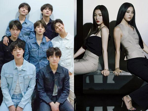 BTS Catat Rekor Baru, Irene & Seulgi Debut di Chart Billboard World Albums