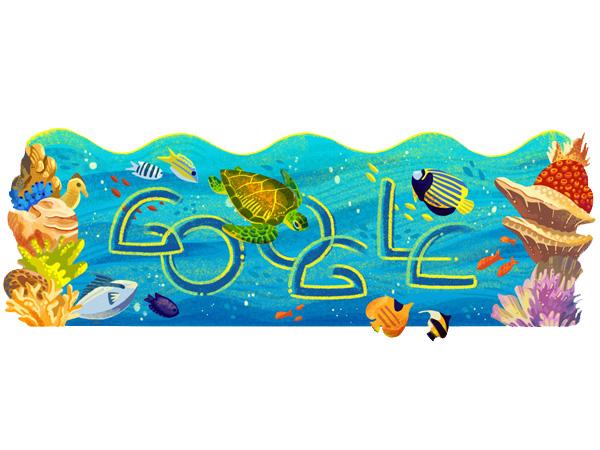 Google Doodle Tampilkan Keindahan Bawah Laut Taman Nasional Bunaken