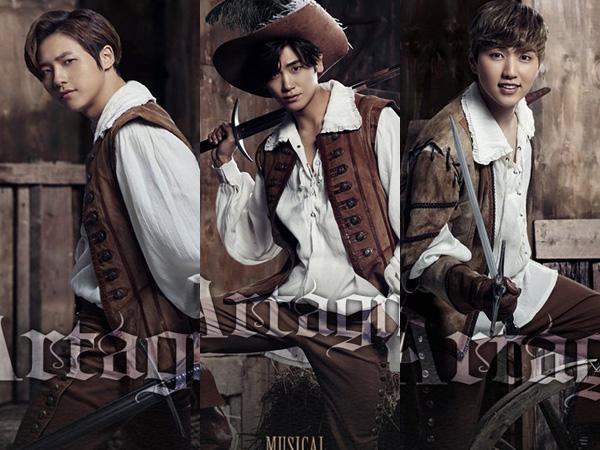 Tiga Idola K-Pop Tampan Ini Siap Bintangi Musikal 'The Three Musketeers' Tahun 2016!