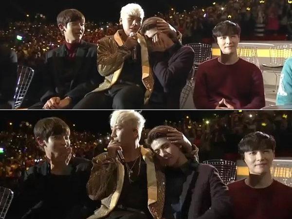 Kocaknya Seungri Big Bang Duduk di Pangkuan Sehun EXO Saat Tampil di MAMA 2015
