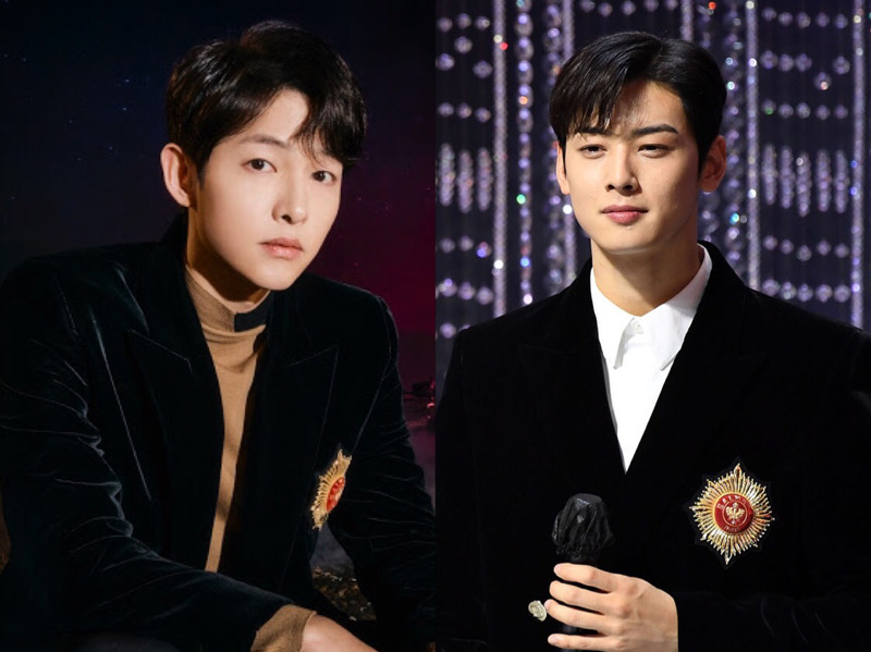 Blazer Kembar Cha Eunwoo vs Song Joong Ki, Who Wore It Better?
