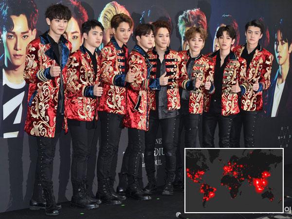 11 Juta Tweet Hashtag #EXO Tersebar di Seluruh Dunia Jelang Comeback