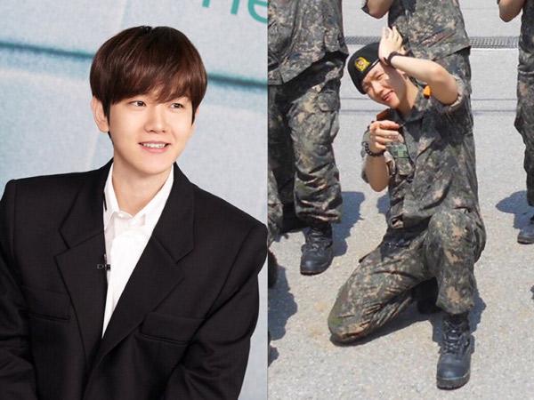 Baekhyun EXO Berpose Makin Ajaib di Foto Terbaru Wajib Militer