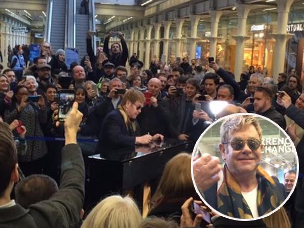 Elton John Kejutkan Stasiun London Dengan Gelar 'Konser' Piano Dadakan!