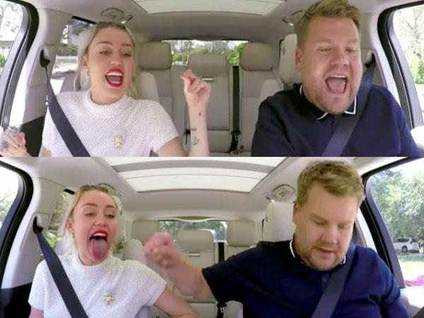 Miley Cyrus Pamer Suara Merdu Hingga Cerita Tentang Perubahan Dirinya di 'Carpool Karaoke' Dengan James Corden!