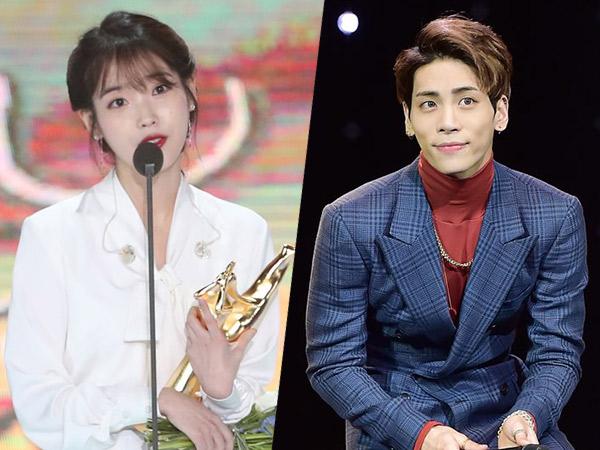 IU Singgung Jonghyun SHINee dalam Pidato Kemenangan Menyentuh di #GDA2018