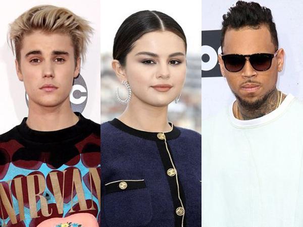 Kolaborasi Bareng Chris Brown, Justin Bieber Nyanyikan Lagu untuk Selena Gomez?