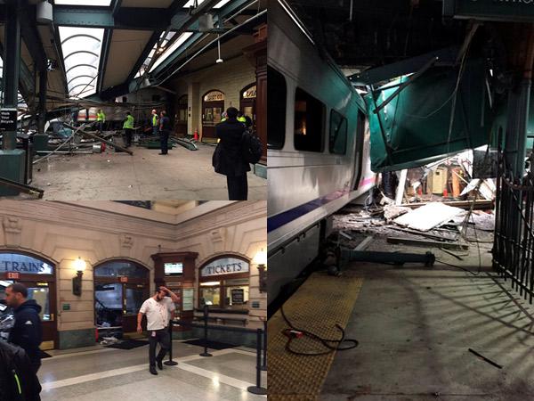 Terjadi di Jam Sibuk, Ini Pemandangan 'Dramatis' Kecelakaan Kereta New Jersey