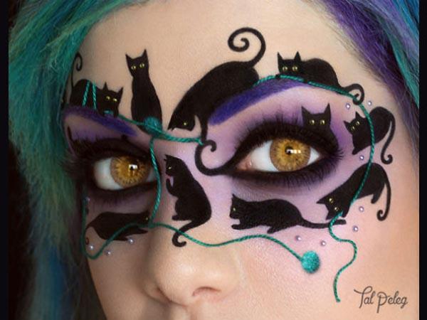 Sambut Halloween, Seniman Ini Ubah Wajahnya Jadi Menakjubkan