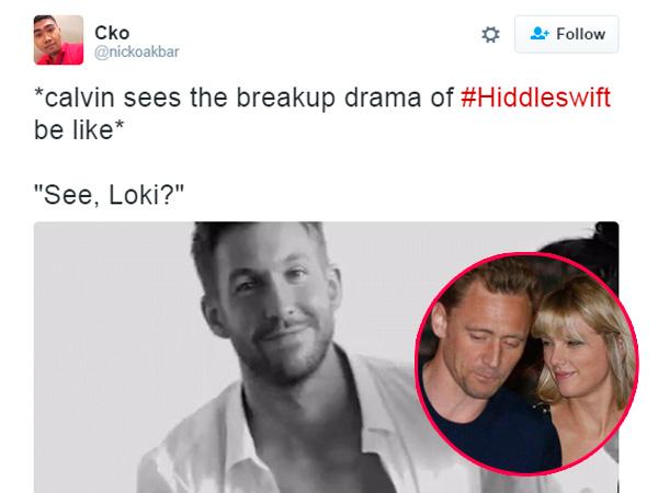 Putus Cinta, Netizen Ejek Hubungan Asmara Taylor Swift dan Tom Hiddleston dengan Meme Kocak!