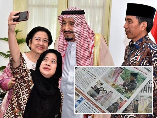 Netizen Kecam 'Wefie' Raja Salman-Megawati, Benarkah Jadi Sorotan Media Arab?