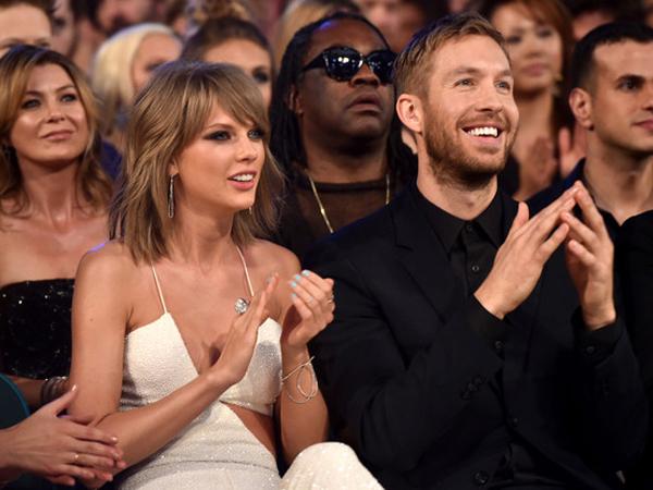Menang Penghargaan Billboard, Taylor Swift Terima Ciuman dan Pelukan Mesra dari Calvin Harris