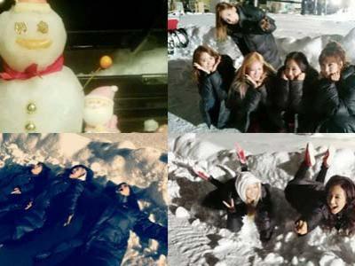 Ucapkan Natal, Seohyun dan Yuri Pamer Foto Main Salju