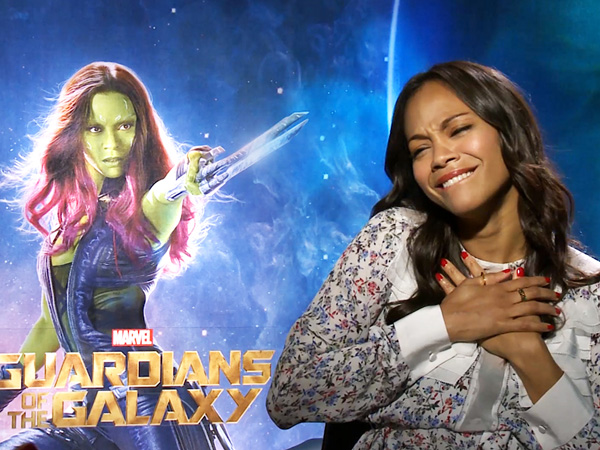 Pamer Foto Persiapan 'Guardians of The Galaxy 2', Zoe Saldana Dilumuri Adonan Hijau!