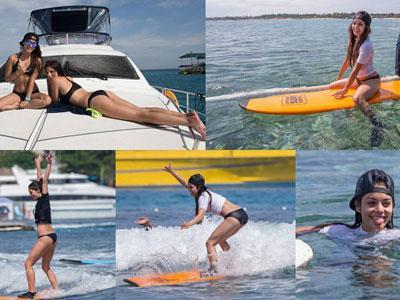 Ashley Greene Berbikini Hingga Lecet di Bali