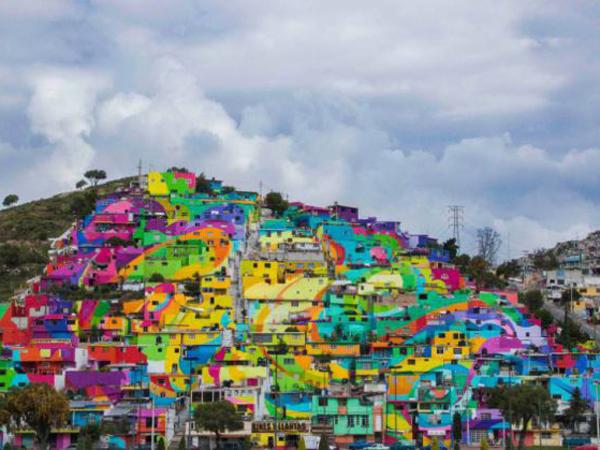 Satukan Masyarakat, Pemerintah Meksiko Minta Seniman Grafiti Lukis 200 Rumah