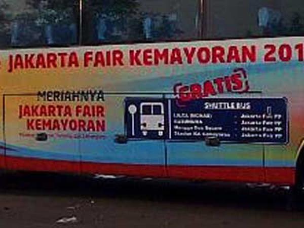 Jakarta Fair Siapkan Bus Gratis ke Kemayoran