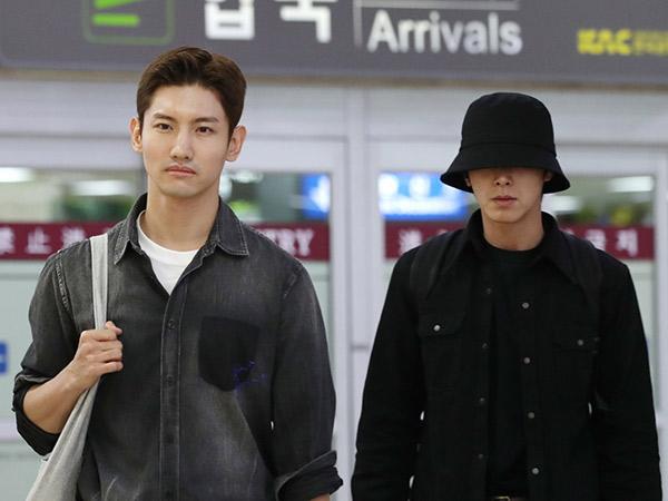 TVXQ Pulang ke Korea dengan Wajah Muram, Kejar Pemakaman Sulli