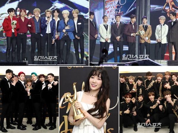 Didominasi BTS dan EXO, Berikut Daftar Pemenang '32nd Golden Disc Awards' Hari Kedua