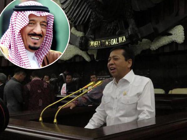 Mikrofon Hingga Kursi Emas Disiapkan untuk Sambut Raja Salman di Gedung DPR