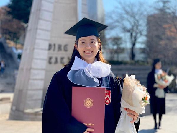 Nam Ji Hyun Rayakan Kelulusan Kuliah dari Jurusan Psikologi