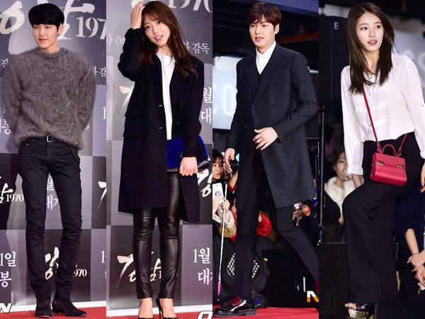 Intip Gaya Fashion Para Bintang di Premier Film Baru Lee Min Ho, 'Gangnam 1970'