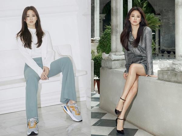 Intip Gaya Chic nan Elegan Song Hye Kyo di Pemotretan Brand Sepatu Suecomma