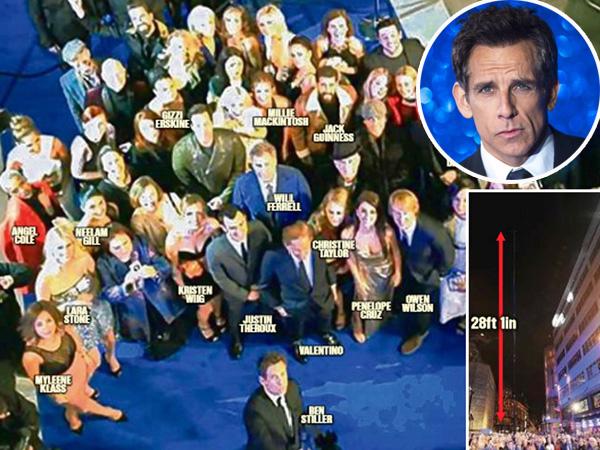 Ben Stiller Pecahkan Selfie Tongsis Terpanjang di Red Carpet 'Zoolander 2'!
