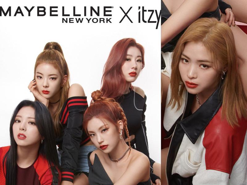 ITZY Jadi Idola K-Pop Pertama Sebagai Model Global Maybelline New York
