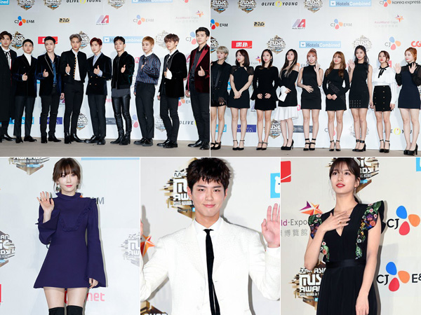 Simak Modisnya Red Carpet Fashion Para Presenter dan Idola K-Pop di MAMA 2016 (Part 2)