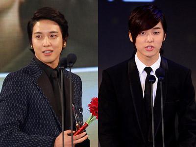 Yonghwa dan Minhyuk CN Blue Raih Penghargaan di K-Drama Star Awards 2012