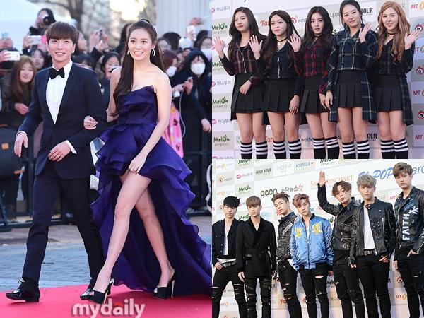 Gaya Fashion Para Idola K-Pop di Karpet Merah '5th Gaon Chart K-Pop Awards'
