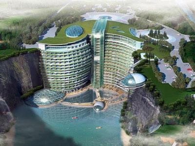 Wow, China Bangun Hotel ke Bawah Tanah