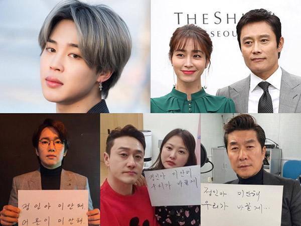 Termasuk Jimin BTS, Sejumlah Artis Korea Ikut Kampanye Sorry Jung In