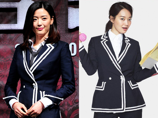Navy Blazer Kembar Jun Ji Hyun vs Shin Min Ah, Who Wore It Better?