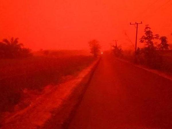 Penjelasan Fenomena Mengerikan Langit Jambi Sempat Berwarna Merah di Siang Hari