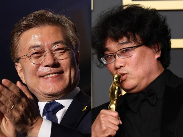 Presiden Moon Jae In Rayakan Kemenangan Film Parasite di Oscars