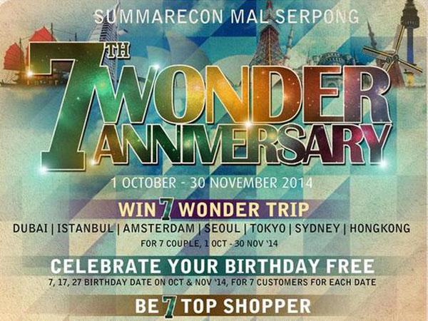 Ingin Jalan-jalan ke Luar Negeri? Ikutan 'The 7th Wonder Anniversary' Yuk!