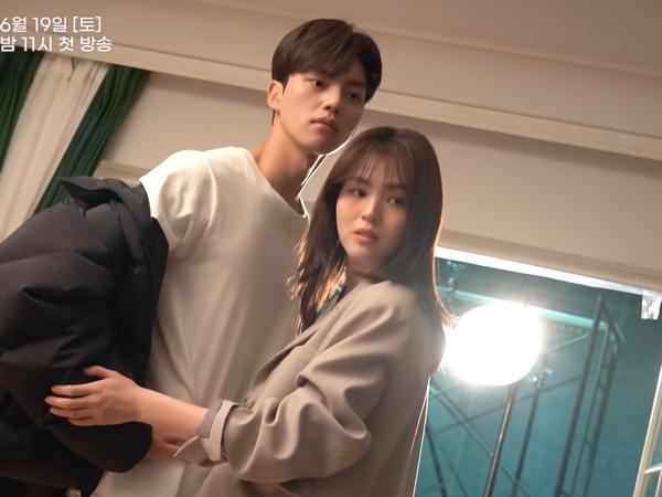 Bikin Baper, Lucunya Song Kang dan Han So Hee Saat Pemotretan Poster Drama 'Nevertheless'
