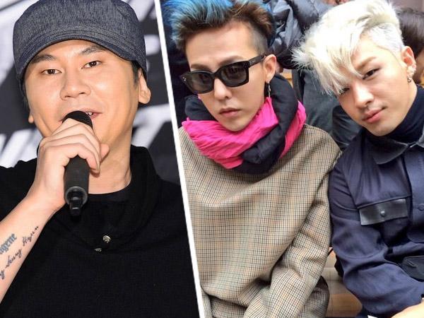 Yang Hyun Suk Puji Kekompakkan Taeyang dan G-Dragon di Lagu 'Stay With Me'