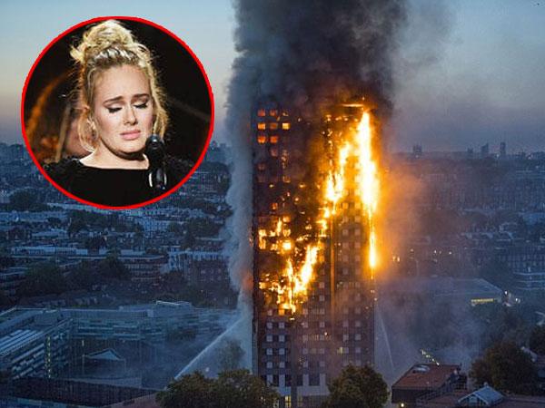 Diam-diam Adele Beri Dukungan Menyentuh Bagi Korban Kebakaran Apartemen di London
