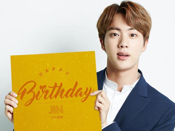 Happy Worldwidehandsomeday Serunya Member Bts Dan Fans Rayakan Ulang Tahun Jin