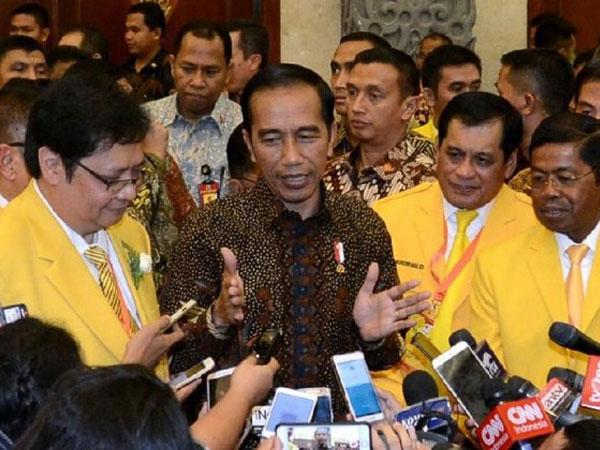 Ketika Presiden Joko Widodo 'Blak-Blakan' Soal Kubu di Partai Gokar